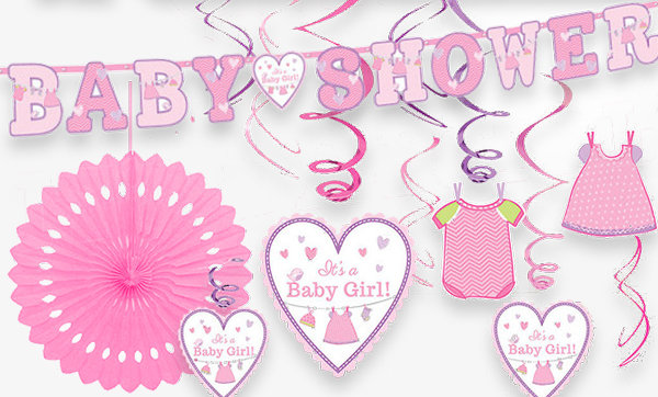 Shower with Love Pink Baby Shower