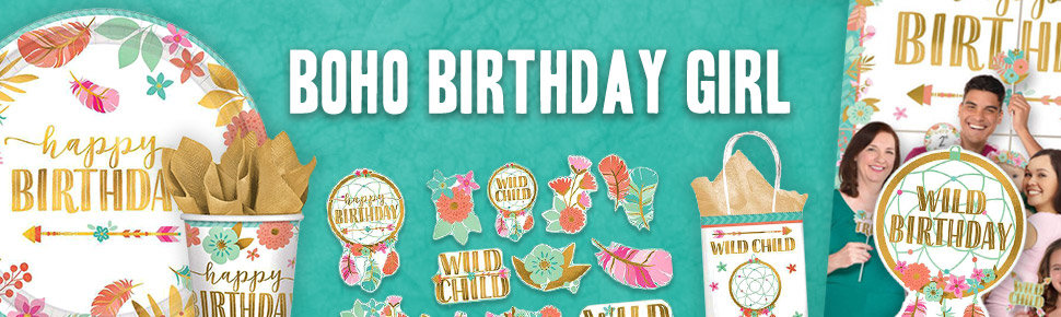 Boho Birthday Header