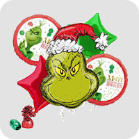 Seuss HOW THE GRINCH STOLE CHRISTMAS Party Balloons Birthday Decorations Dr
