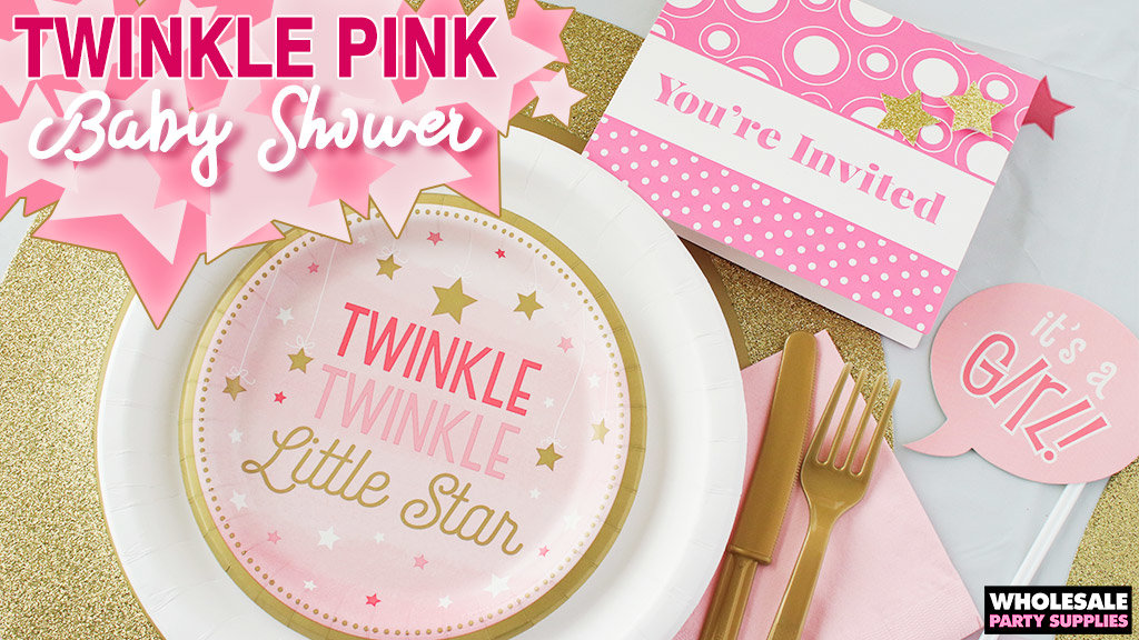 Twinkle Pink Baby Shower Party Idea