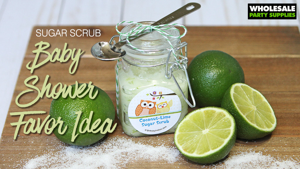 Sugar Scrub Baby Shower Favor