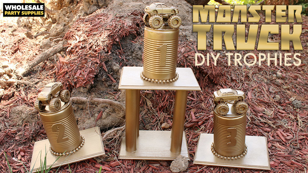 DIY Monster Truck Trophies