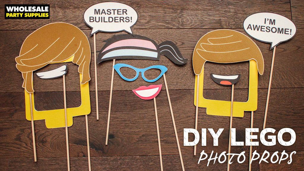 DIY LEGO Photo Booth Props