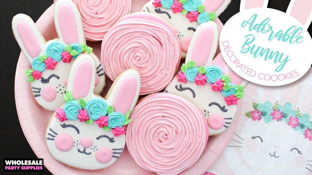 Decorated Birthday Bunny Cookies