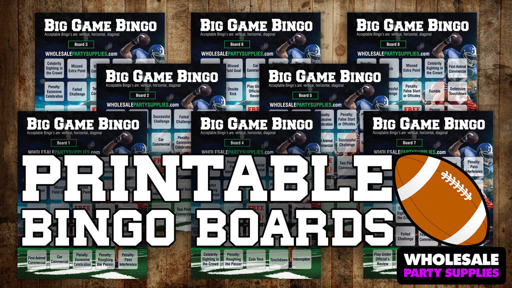 FREE Printable Bingo Boards NFL