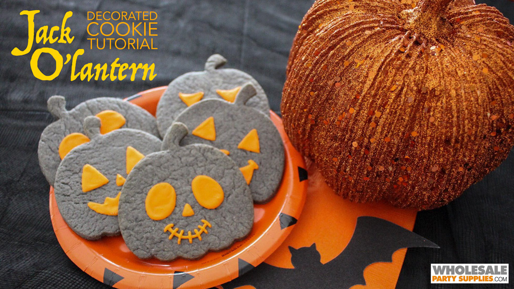 Jack O'Lantern Decorated Cookies