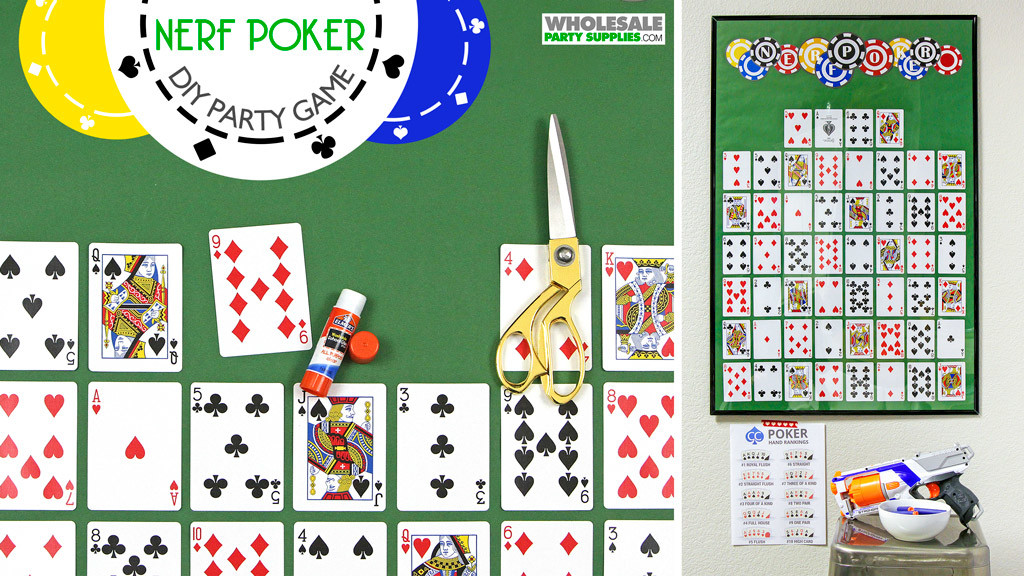 DIY Nerf Poker Party Game