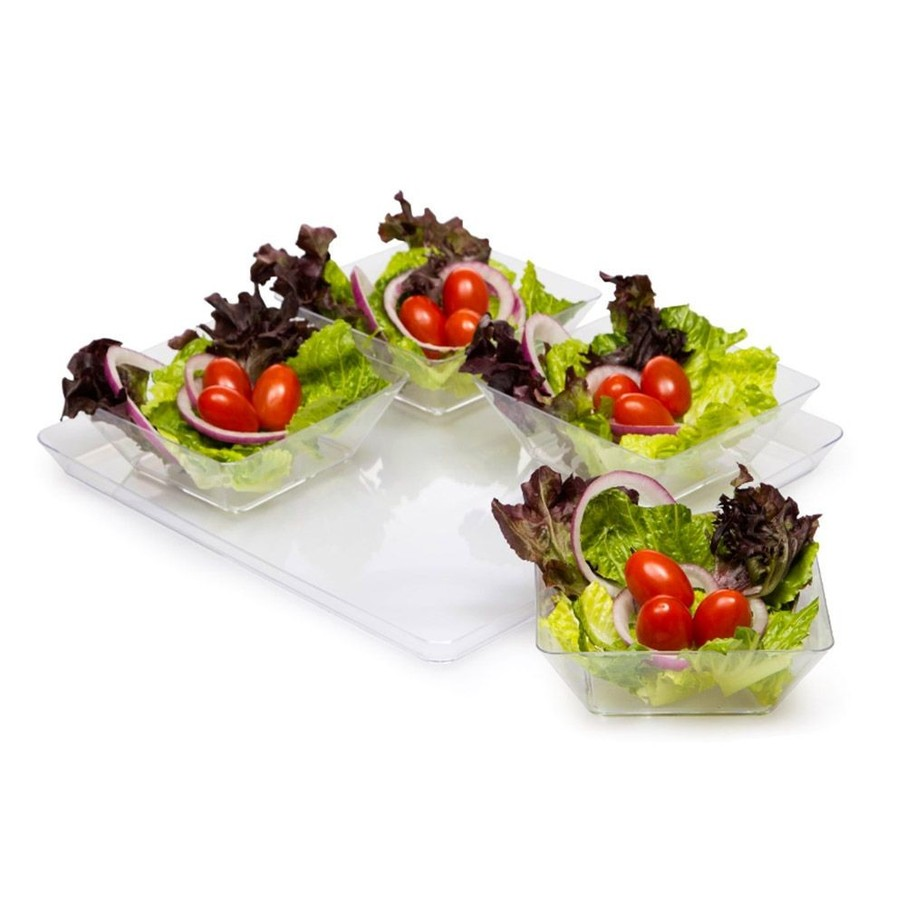 "View larger image of 11.5"" Clear Plastic Square Serving Tray (Each)"