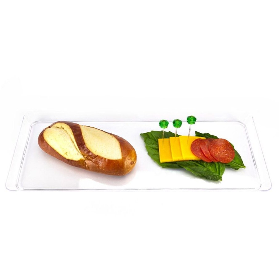 "View larger image of 15.5"" Clear Plastic Rectangular Serving Tray (Each)"