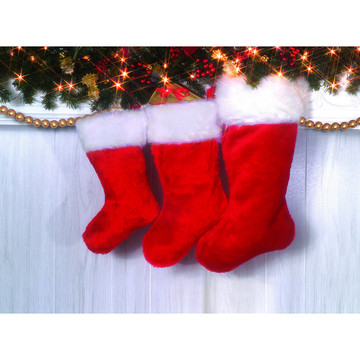 "19"" Plush Christmas Stocking (1)"