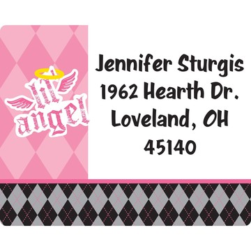 1st Birthday Angel Personalized Address Labels (Sheet of 15)