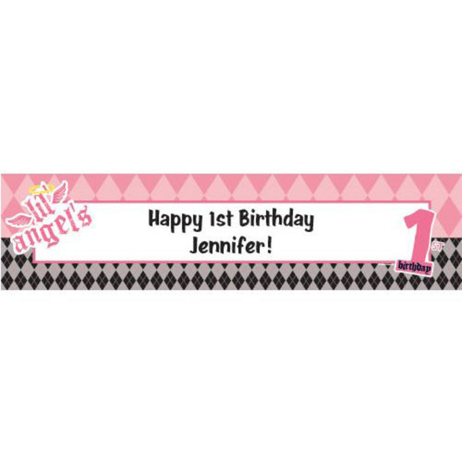 View larger image of 1st Birthday Angel Personalized Banner (each)