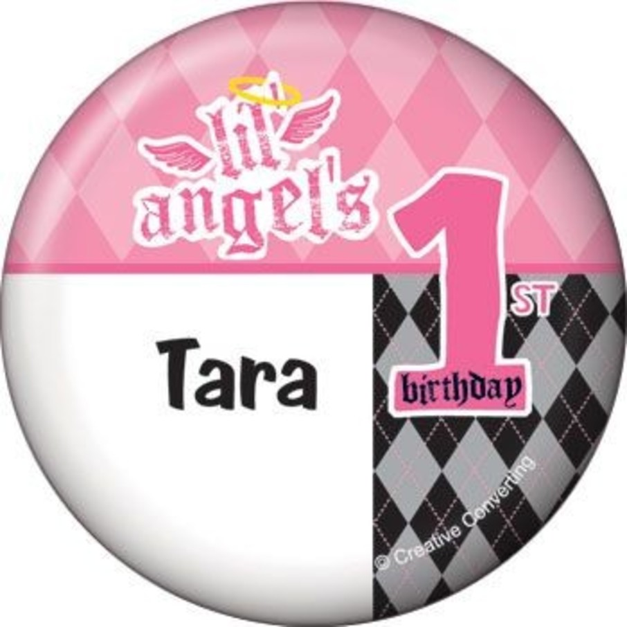 View larger image of 1st Birthday Angel Personalized Button (each)