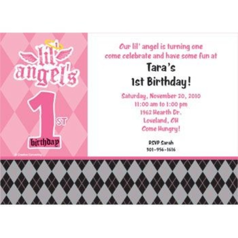 View larger image of 1st Birthday Angel Personalized Invitation (each)