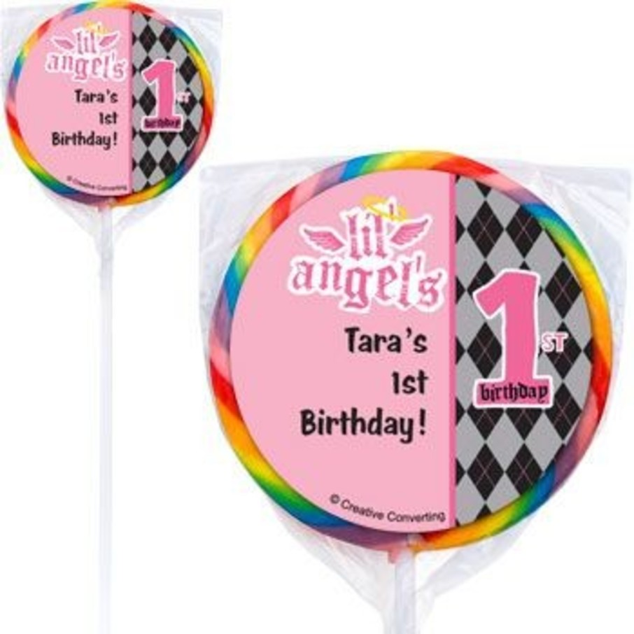 View larger image of 1st Birthday Angel Personalized Lollipops (pack of 12)
