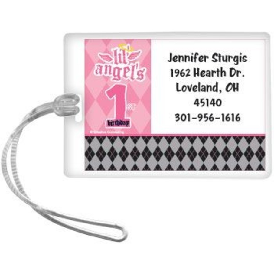 View larger image of 1st Birthday Angel Personalized Luggage Tag (each)