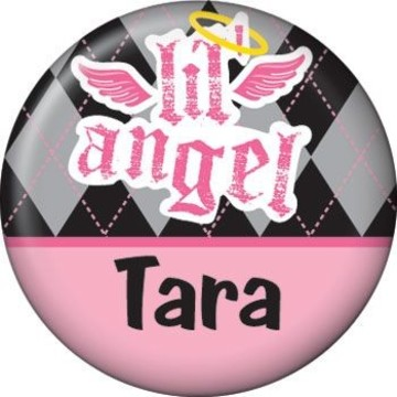 1st Birthday Angel Personalized Mini Button (each)