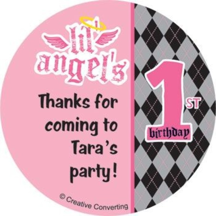 View larger image of 1st Birthday Angel Personalized Stickers (sheet of 12)