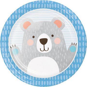 "Birthday Bear 9"" Dinner Plate (8)"
