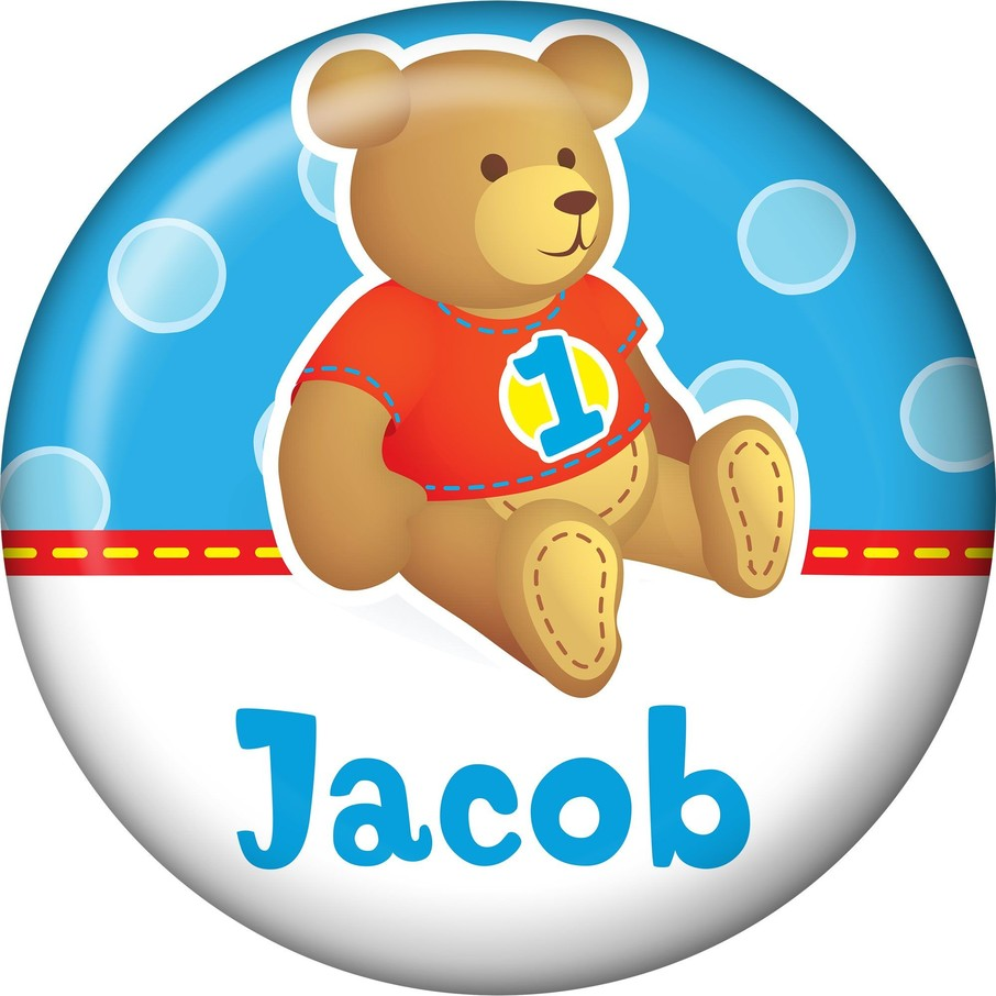 View larger image of 1st Birthday Bear Boy Personalized Mini Magnet (each)
