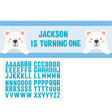 Birthday Bear Giant Party Banner (1)