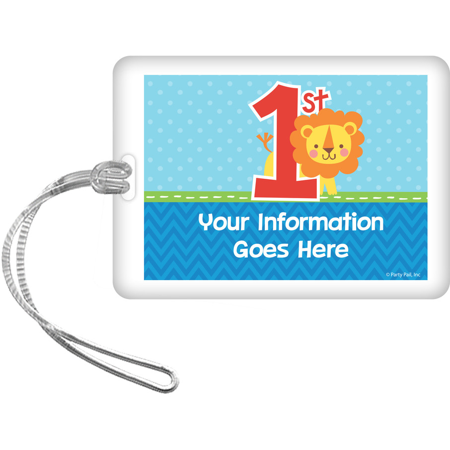 View larger image of 1st Birthday Boy Animal Personalized Bag Tag (Each)