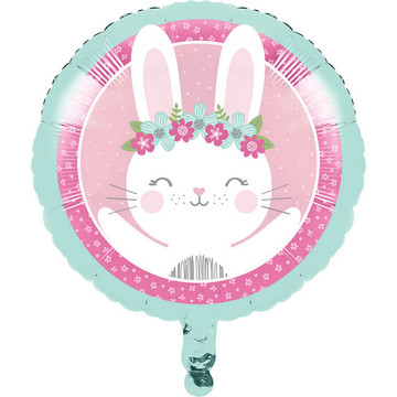 "Birthday Bunny 18"" Metallic Balloon (1)"