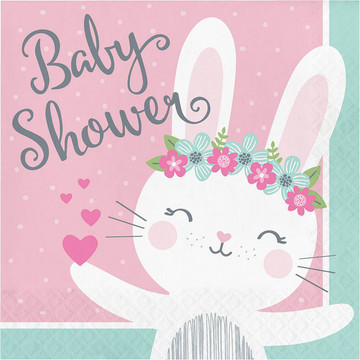 Baby Shower Bunny Luncheon Napkin (16)