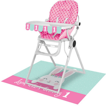 1st Birthday Bunny High Chair Kit (1)