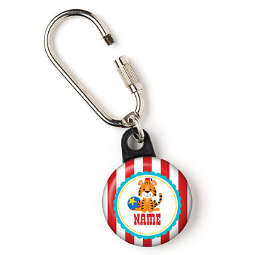 "1st Birthday Circus Personalized 1"" Carabiner (Each)"