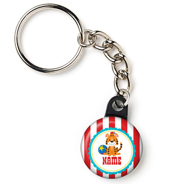 "1st Birthday Circus Personalized 1"" Mini Key Chain (Each)"