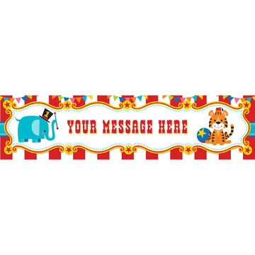 1st Birthday Circus Personalized Banner (Each)