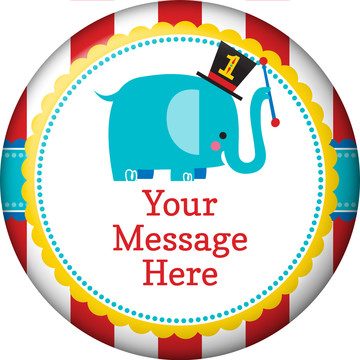 1st Birthday Circus Personalized Button (Each)