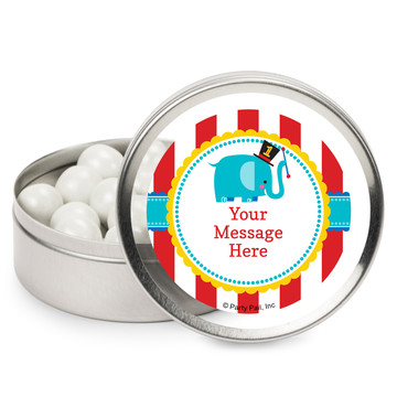 1st Birthday Circus Personalized Mint Tins (12 Pack)