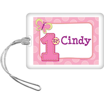 1st Birthday Girl Personalized Bag Tag (each)