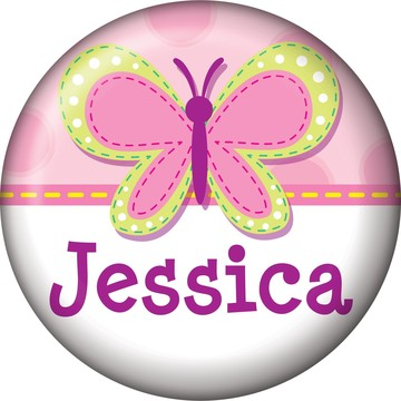 1st Birthday Girl Personalized Mini Button (each)