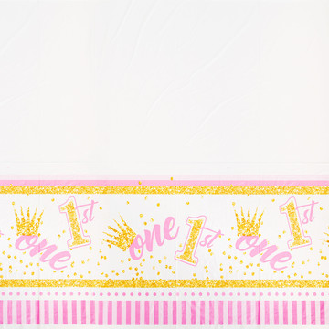 1st Birthday Pink Tablecover (1)