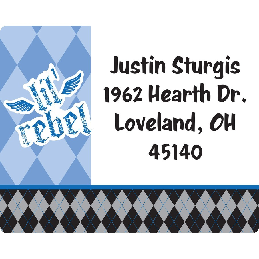 View larger image of 1st Birthday Rebel Personalized Address Labels (Sheet of 15)