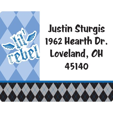 1st Birthday Rebel Personalized Address Labels (Sheet of 15)