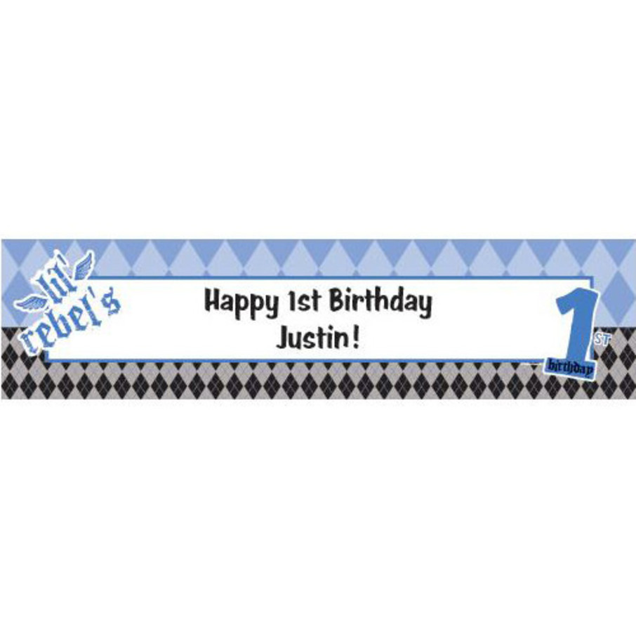 View larger image of 1st Birthday Rebel Personalized Banner (each)