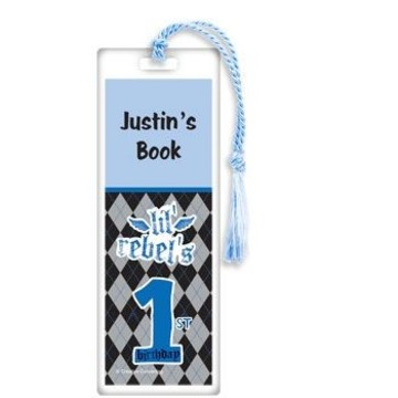 1st Birthday Rebel Personalized Bookmark (each)