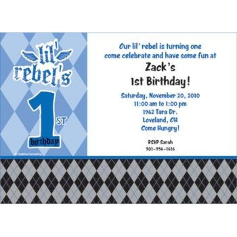 View larger image of 1st Birthday Rebel Personalized Invitation (each)