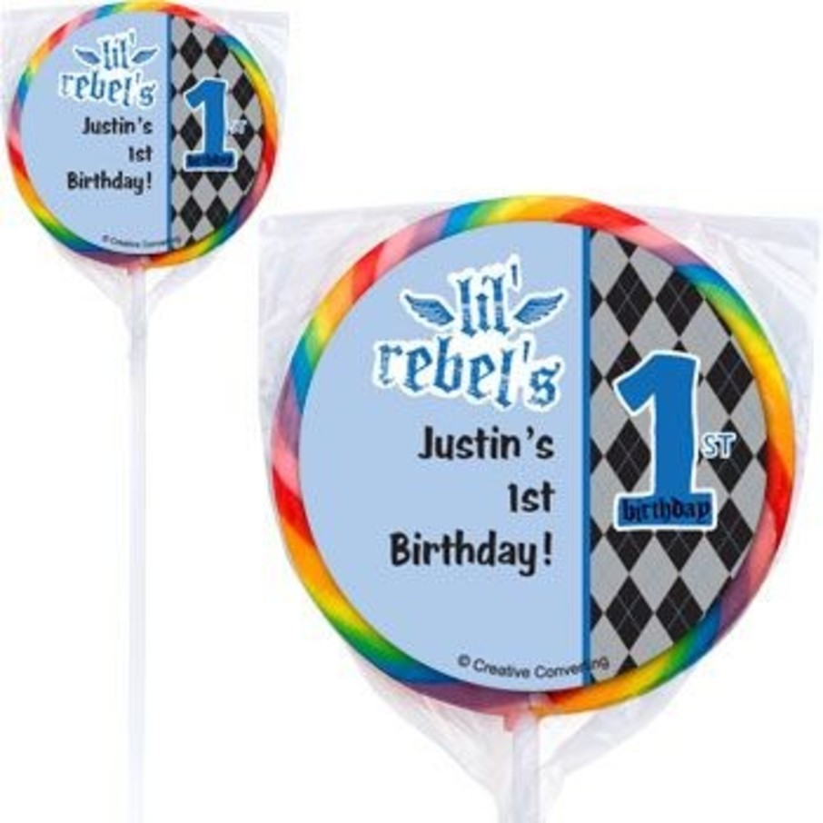 View larger image of 1st Birthday Rebel Personalized Lollipops (pack of 12)