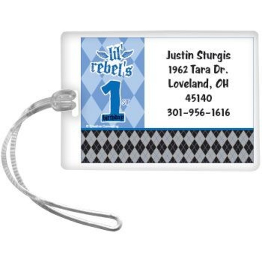 View larger image of 1st Birthday Rebel Personalized Luggage Tag (each)