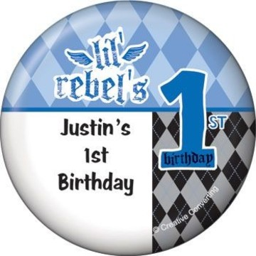 1st Birthday Rebel Personalized Magnet (each)