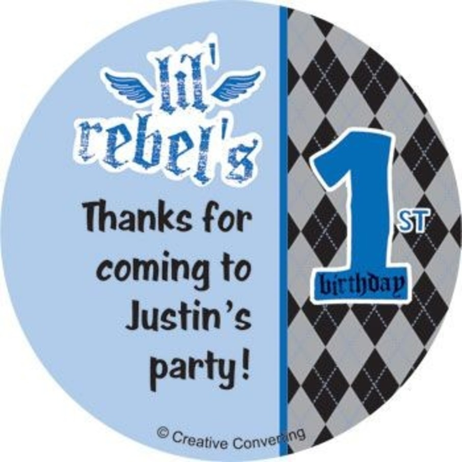 View larger image of 1st Birthday Rebel Personalized Stickers (sheet of 12)