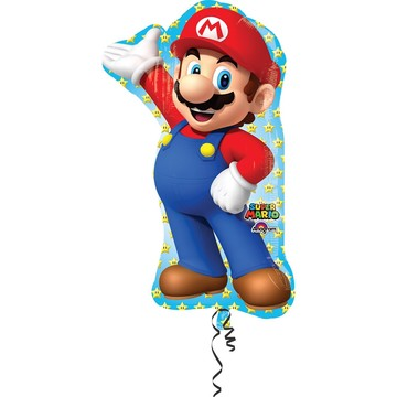 "33"" Mario Bros Shape Foil Balloon"