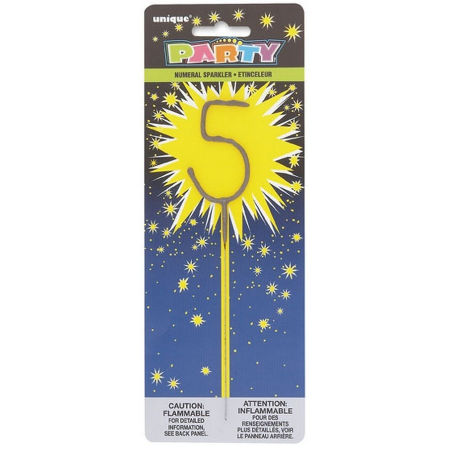 View larger image of 5 Numeral 7 Cake Sparkler