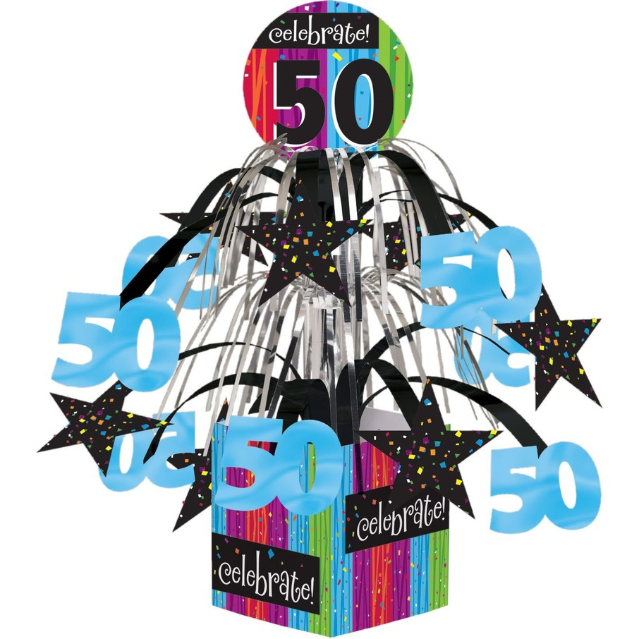 View larger image of 50TH BIRTHDAY MINI FOIL CENTERPIECE