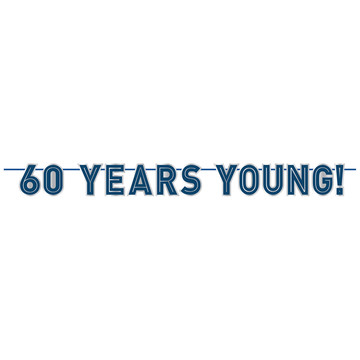60 Years Young Banner